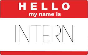 Intern name badge image